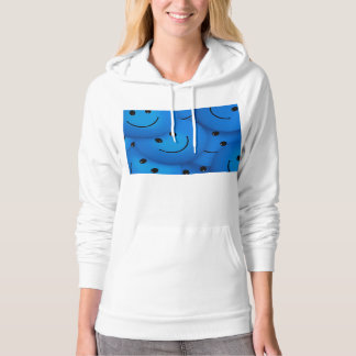 Fun Cool Happy Blue Smiley Faces Hoodie