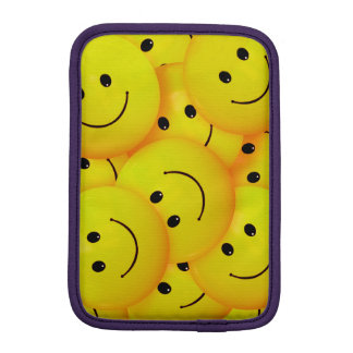 Fun Cool Happy Yellow Smiley Faces iPad Mini Sleeves