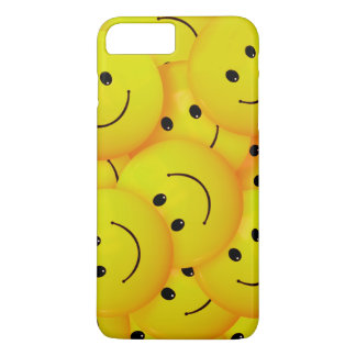 Fun Cool Happy Yellow Smiley Faces iPhone 8 Plus/7 Plus Case