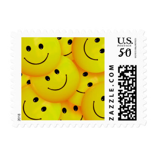 Fun Cool Happy Yellow Smiley Faces Postage