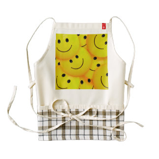 Fun Cool Happy Yellow Smiley Faces Zazzle HEART Apron
