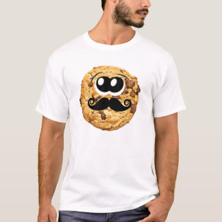 Fun Cool Quirky Trendy Cute Cookie Mustache T-Shirt