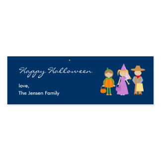 Fun Costumes Halloween Gift Tag Business Card