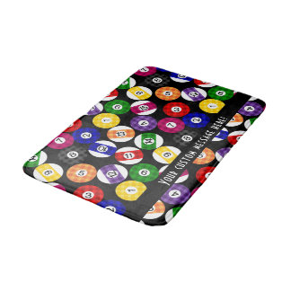 Fun Country Style Checkered Billiards Pattern Bathroom Mat