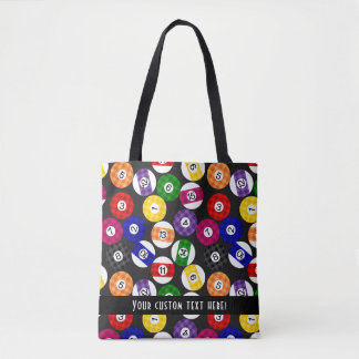 Fun Country Style Checkered Billiards Pattern Tote Bag