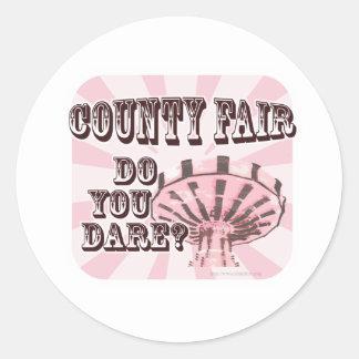 Fun County Fair Slogan Classic Round Sticker