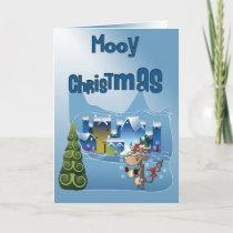 Fun Cow Christmas Card