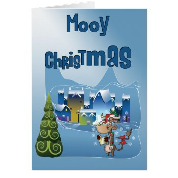 Fun Cow Christmas Card