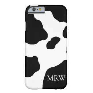 Fun Cow Print Cute Animal Personalized Barely There iPhone 6 Case