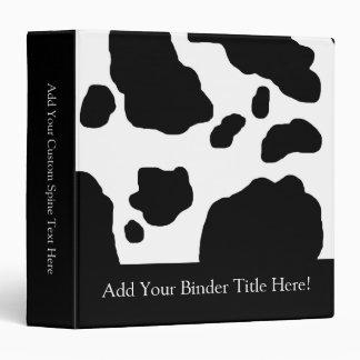 Fun Cow Print Personalized Binder