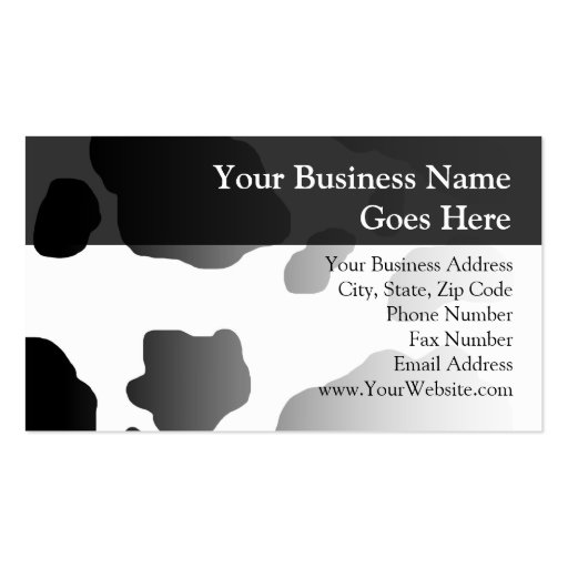 Fun Cow Print Personalized Business Card Templates