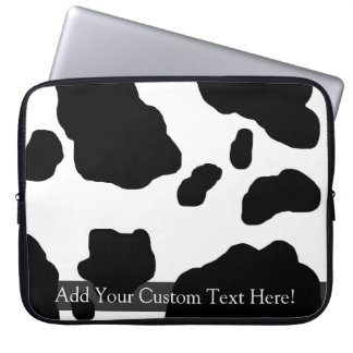 Fun Cow Print Personalized Computer Sleeve