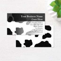 Milk cow business cards templates zazzle fun cow print personalized farm milk dairy business card colourmoves