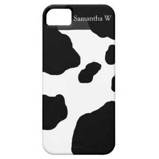 Fun Cow Print Personalized iPhone SE/5/5s Case