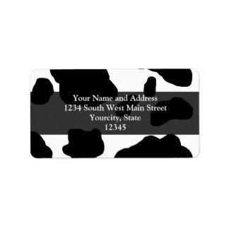 Fun Cow Print Personalized Custom Address Labels