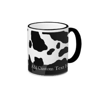 Fun Cow Print Personalized Ringer Coffee Mug