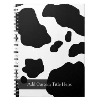Fun Cow Print Personalized Notebook