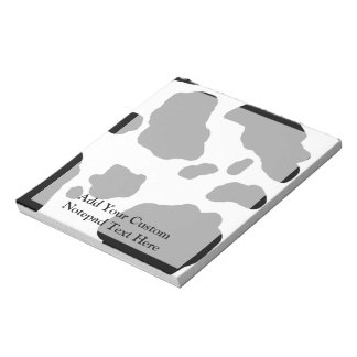Fun Cow Print Personalized Memo Notepads