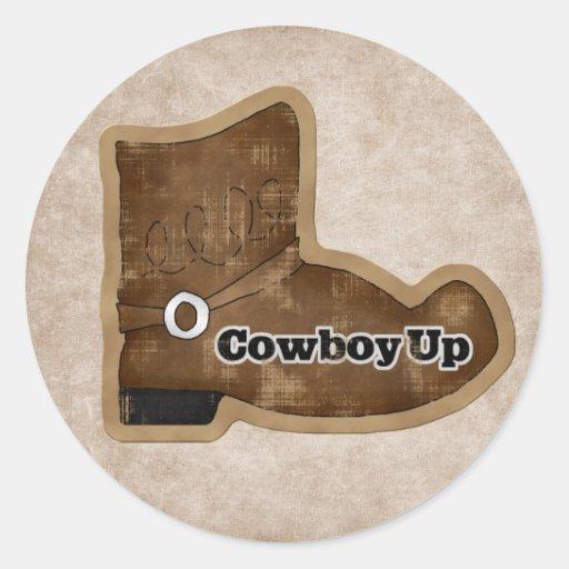 Fun Cowboy Boot Sticker