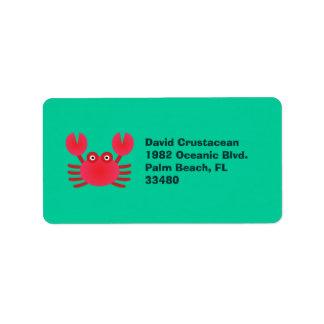 Fun Crab Label