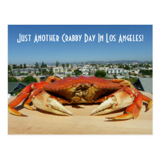 Fun Crabby Day In Los Angeles Postcard! Postcard