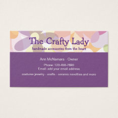 Fun Crafting Supplies And Craft Lady Business Card at Zazzle