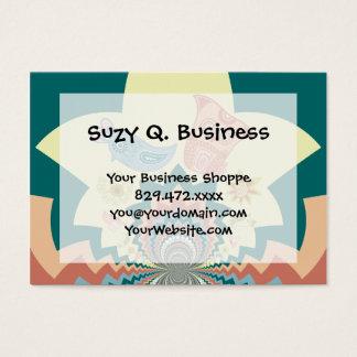 Fun Crazy Owl Birds Chevron Pattern Business Card