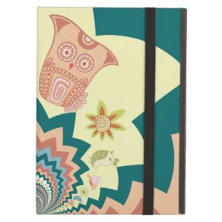 Fun Crazy Owl Birds Chevron Pattern Case For iPad Air