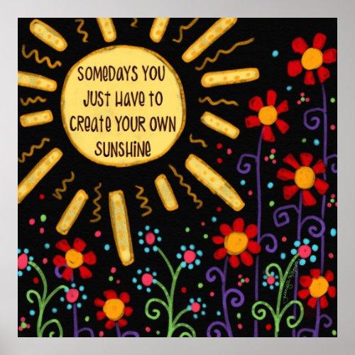 Fun âœCreate Your Own Sunshineâ Classroom Poster