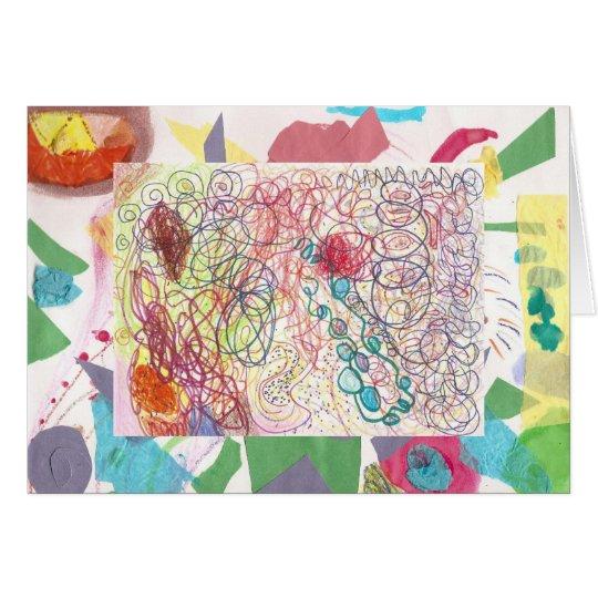 Fun, Creative Artwork by Kaitlin, Age 6 Card
