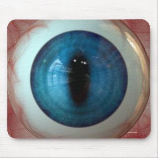 Fun Creepy Blue Eye-ball - Weird, Tasteless Gift Mouse Pad