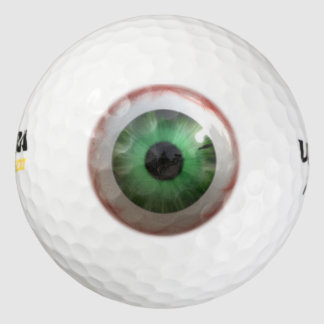 Fun Creepy Green Eye-ball Humor Pack Of Golf Balls