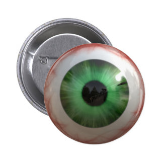 Fun Creepy Green Eye-ball - Weird,Tasteless Gift Pins