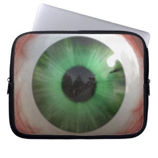 Fun Creepy Green Eye-ball - Weird,Tasteless Gift Laptop Computer Sleeves