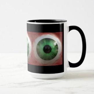 Fun Creepy Green Eye-ball - Weird,Tasteless Gift Mug