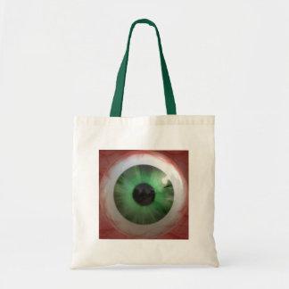 Fun Creepy Green Eye-ball - Weird,Tasteless Gift Tote Bag