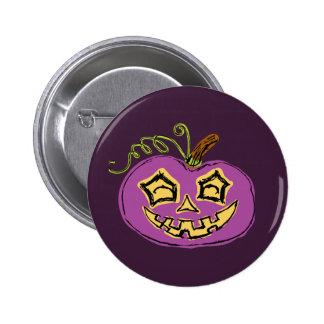 Fun & Creepy Purple Pumpkin Pinback Button