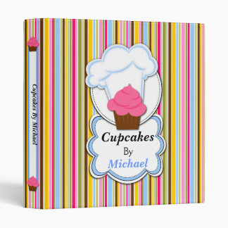 Fun Cupcake and Baker's Hat Recipe Binder