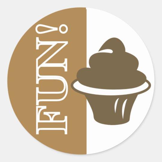 Fun Cupcake Classic Round Sticker