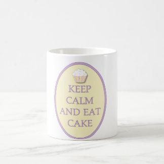 Fun Cupcake Keep Calm Eat Cake Coffee Cup Classic White Coffee Mug