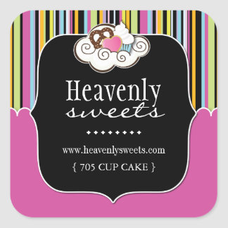 Fun Cupcake Packaging Stickers