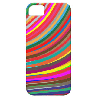 Fun Curved Waves Line Stripe Pattern iPhone SE/5/5s Case