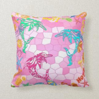 Fun Cushion for the Kids - Beach, Dolphins, Summer