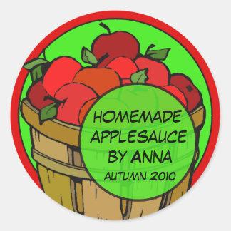 Fun Custom Apple Labels Classic Round Sticker