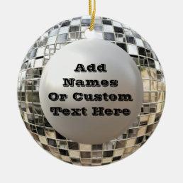 Fun Custom Disco Mirrorball Ornament