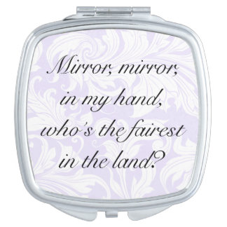 Fun custom floral motivational quote message… travel mirrors