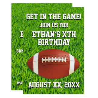 Fun Custom Football Birthday Party Card