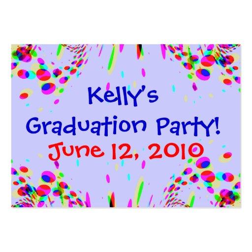 Fun Custom Graduation Party! Card Business Card Template