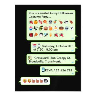 Fun custom Halloween emoticon message invite... Magnetic Card