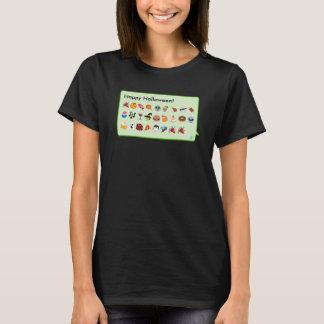 Fun custom Halloween emoticons phone message... T-Shirt